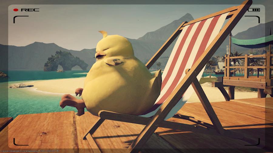 ポチャチョコボとビーチチェアjpg.jpg