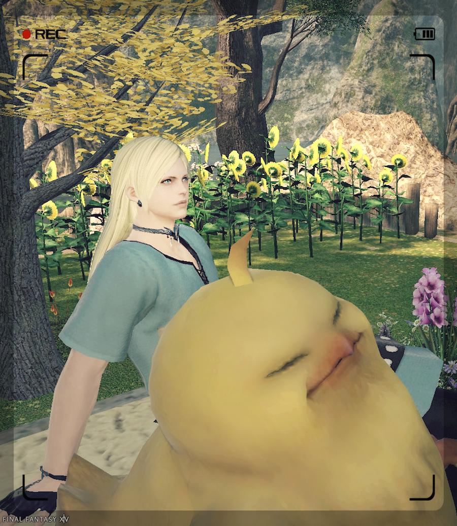 ffxiv_春の庭でポチャちゃん.jpg